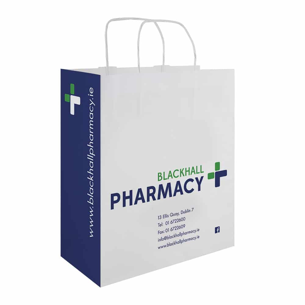 Blackhall Pharmacy | Branded Pharmacy Bags | Bagprint.ie