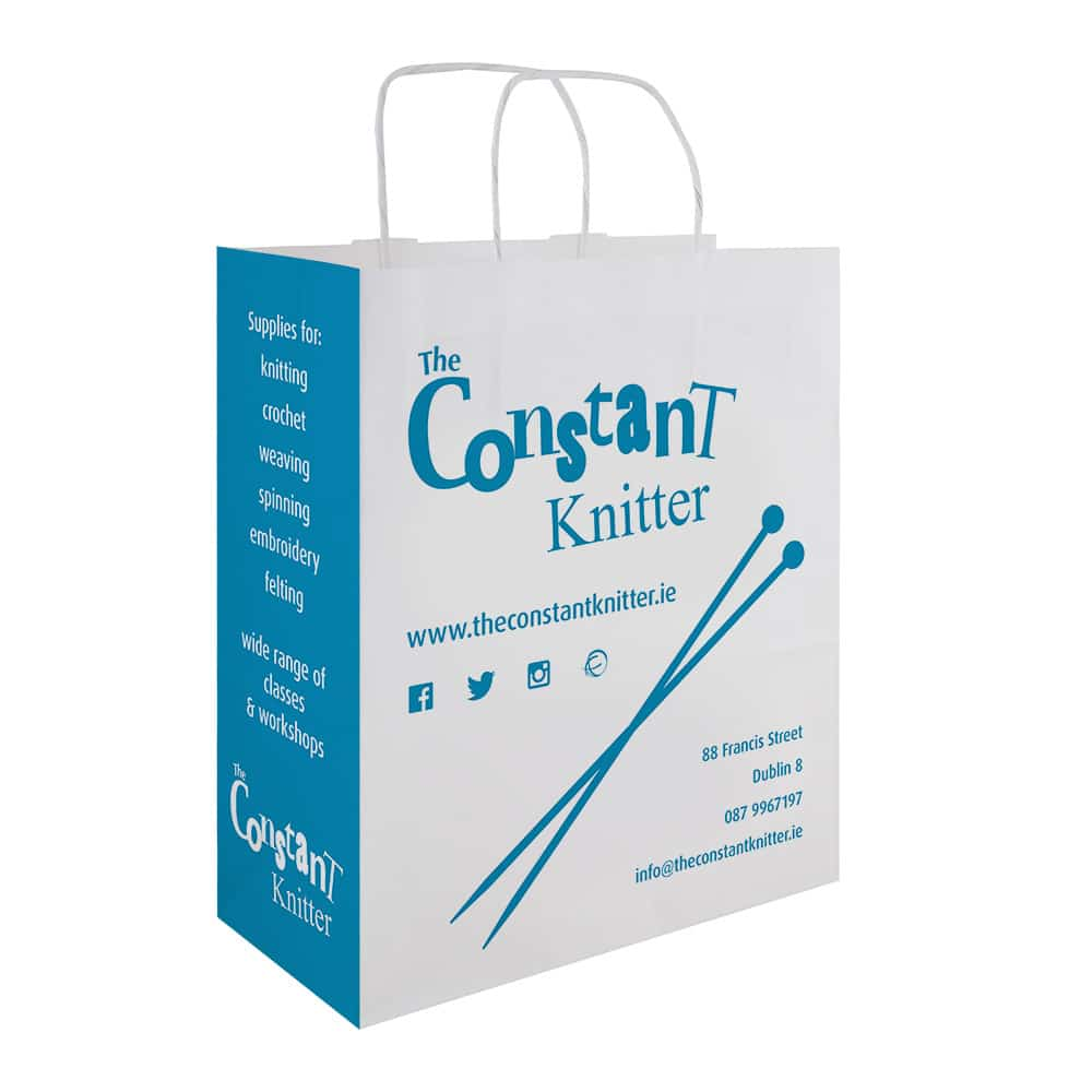 The Constant Knitter Branded Paper Bags | Bagprint.ie