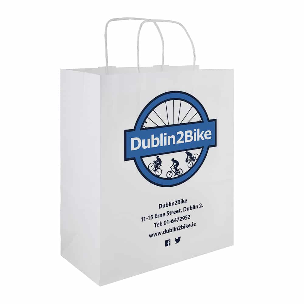 Dublin2Bike Branded Paper Bags | Bagprint.ie