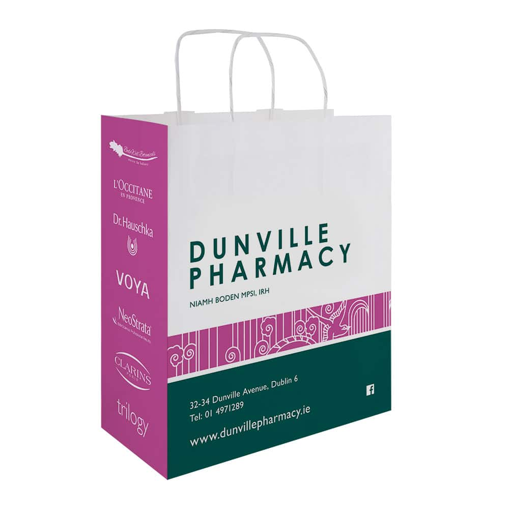 Dunville Pharmacy | Branded Pharmacy Bags | Bagprint.ie