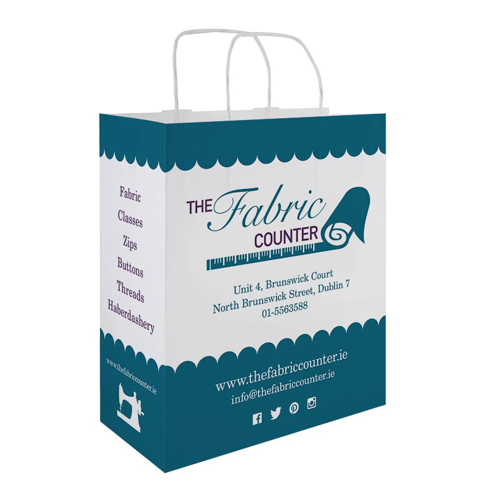 The Fabric Counter Branded Paper Bags | Bagprint.ie