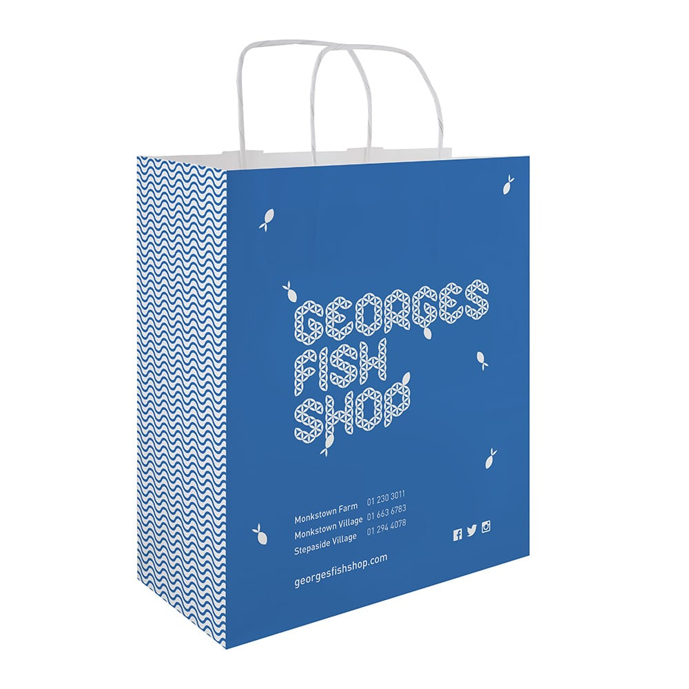 Georges Fish Shop Bag