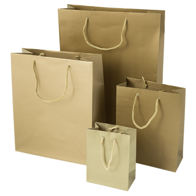 Gold Luxury Carrier Bags | Bagprint.ie