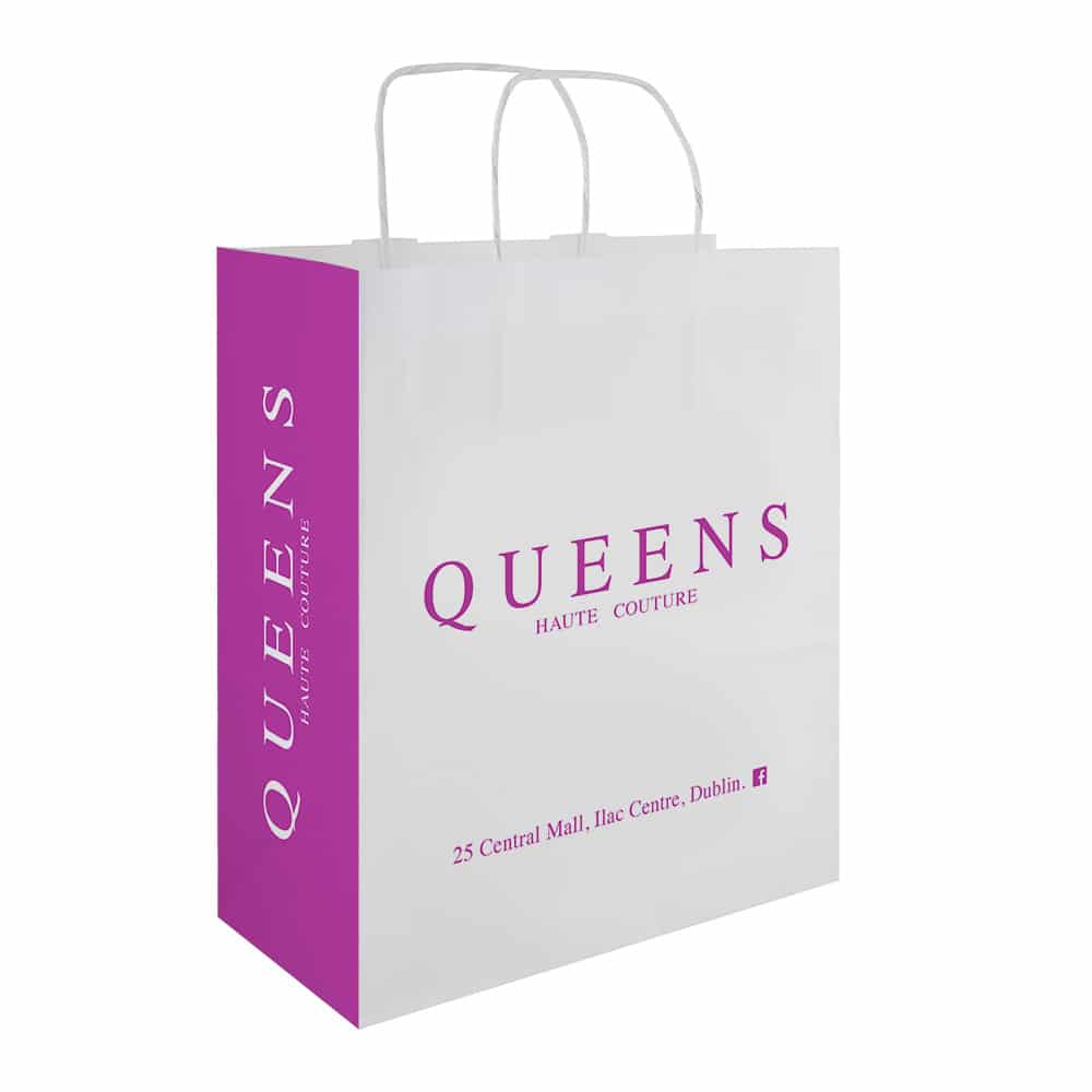 Queens Branded Paper Bags | Bagprint.ie