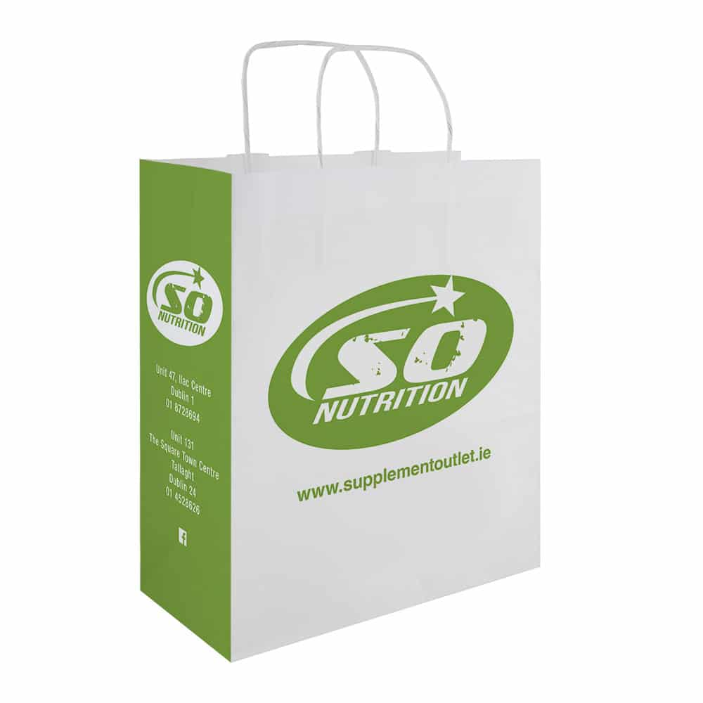 So Nutrition Branded Paper Bags | Bagprint.ie