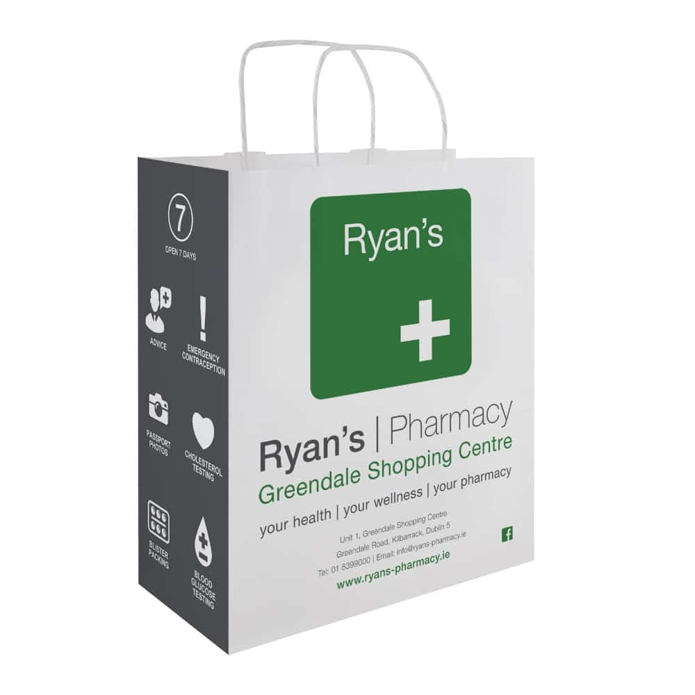 Ryan's Pharmacy | Pharmacy Carrier Bags | Bagprint.ie