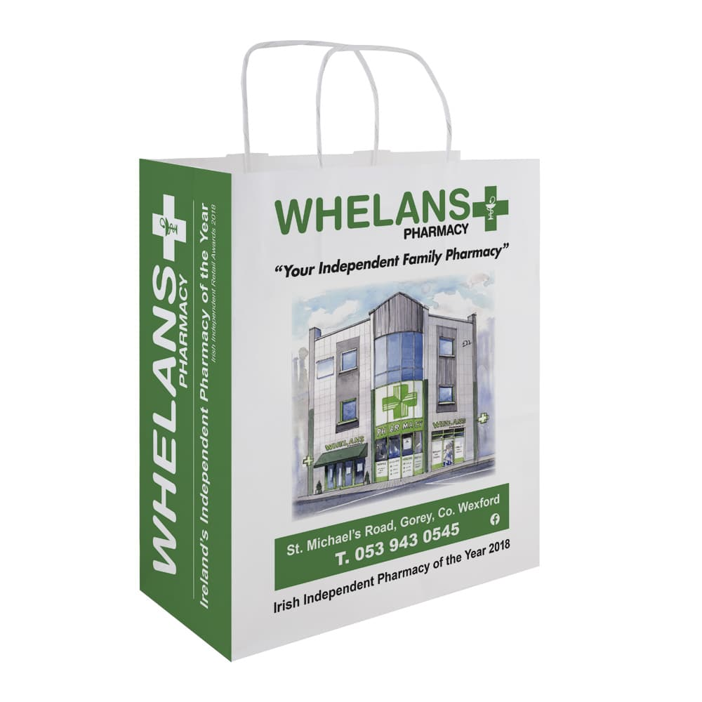 Whelan's Pharmacy | Custom Pharmacy Bags | Bagprint.ie