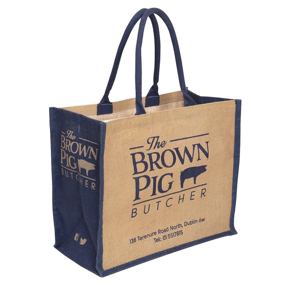 The Brown Pig Butchers bag